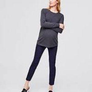Ann Taylor LOFT Blue Ankle Skinny Maternit pants